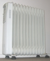 Electric oil radiator