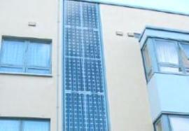 Wall integrated solar panels